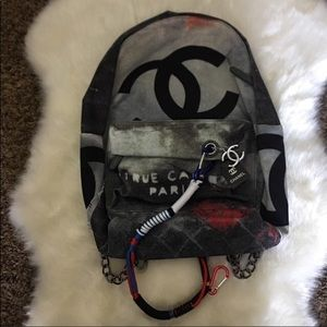 Chanel distressed backpack